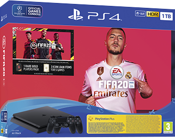 Sony PlayStation 4 Slim 1TB + FIFA 20 & DualShock 4